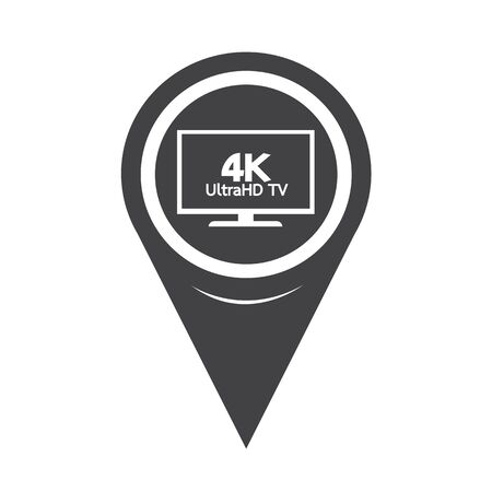 hd: Map Pointer HD TV Icon Illustration