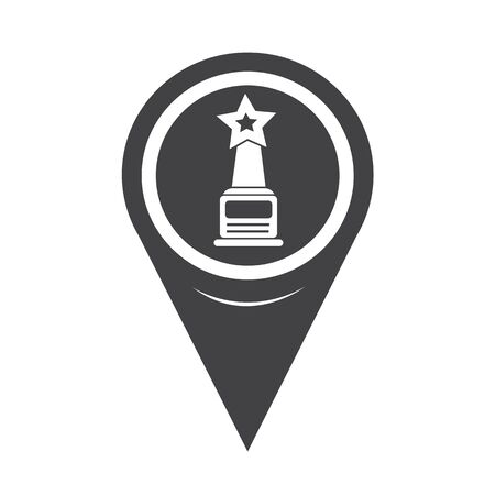star award: Map Pointer star award icon Illustration