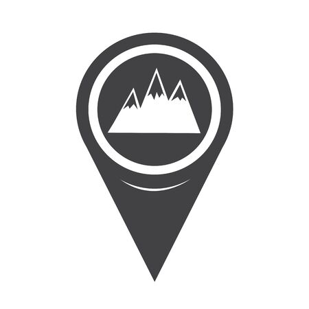 rocky road: Map Pointer Mountains Icon