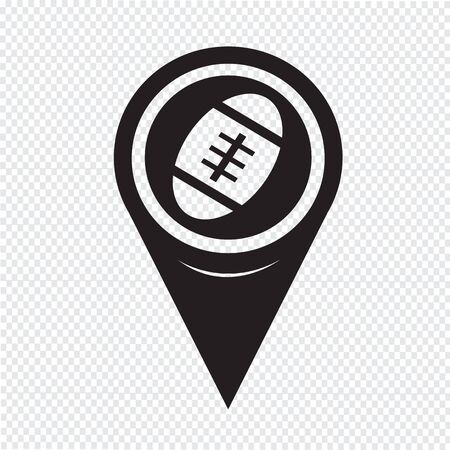 canadian football: Map Pointer American Football Icon