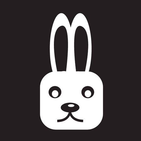 bunny rabbit: bunny rabbit icon Vectores