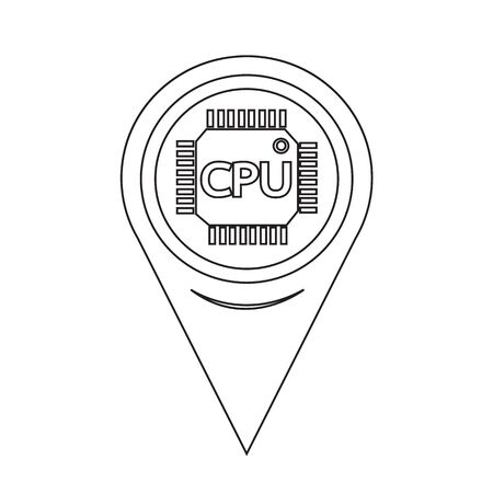 semiconductors: Map Pointer CPU icon