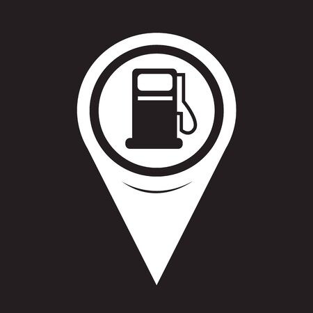 excursions: Map Pointer Gas Pump Icon Illustration