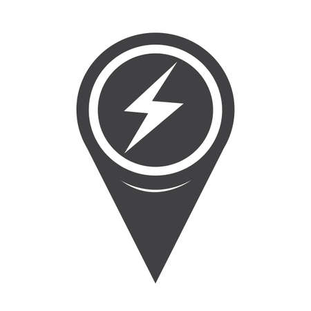 flash point: Map Pointer Lightning Icon
