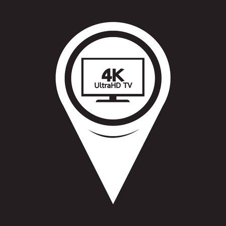 hd: Map Pointer HD TV Icon Illustration