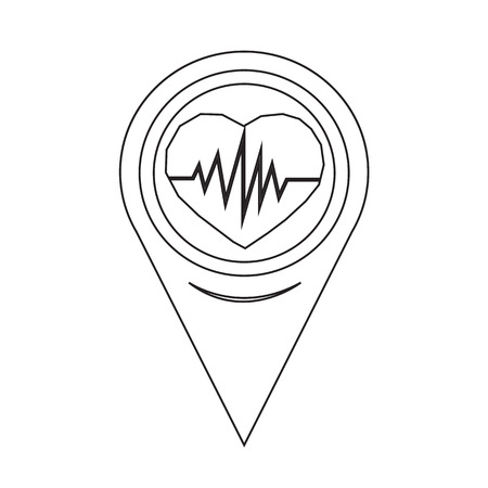 pulsating: Map Pointer Heartbeat Icon