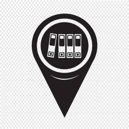 retain: Map Pointer Folder Icon
