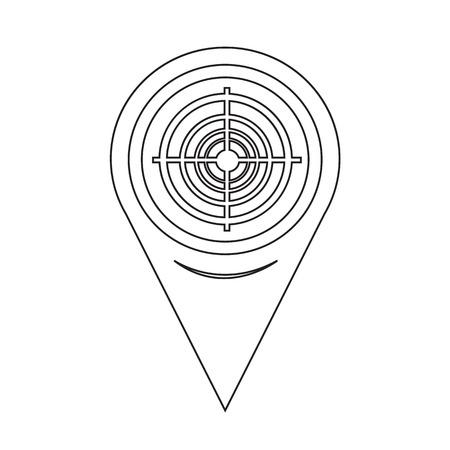 gamme de produit: Pointeur de carte Ic�ne cible Illustration