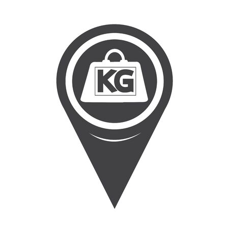 kilogram: Map Pointer Weight Kilogram Icon Illustration