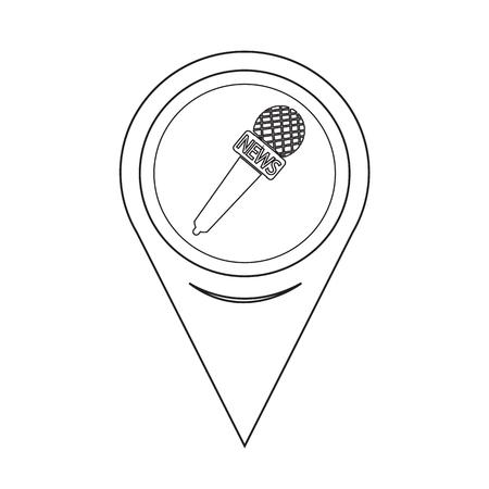 listen live stream: Map Pointer News Microphone Icon Illustration