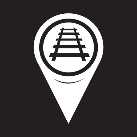 railway track: Map Pointer Railway Track Icon