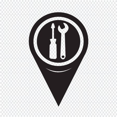 hardware configuration: Map Pointer Tool Icon