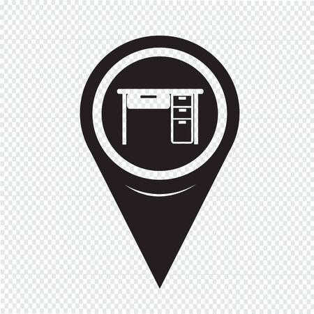 top pointer: Map Pointer Table Office Icon