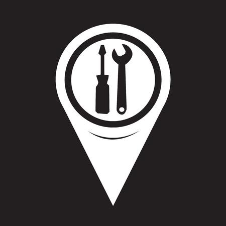 tool icon: Mappa Puntatore Strumento Icona Vettoriali