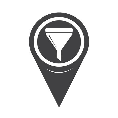 spachteln: Map Pointer Oil Fill Icon Illustration