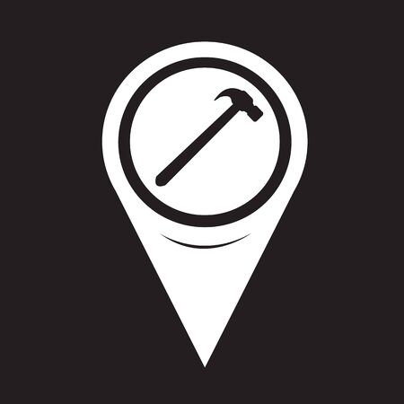 leverage: Map Pointer Hammer Icon