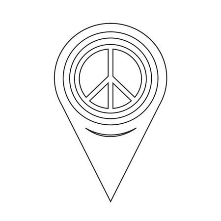 position d amour: Pointeur de carte Icône Signe de la paix