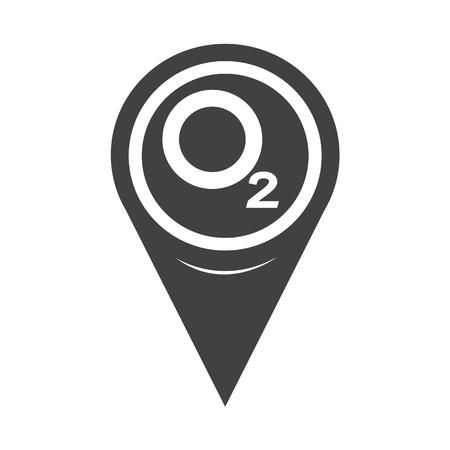 Mapa Pointer tlenu O2 Ikona