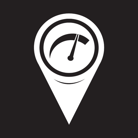 kilometer: Map Pointer Car Meter Icon Illustration
