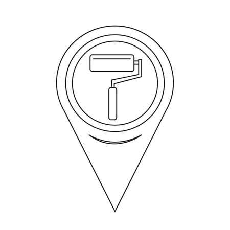 redecorate: Map Pointer paint roller Icon
