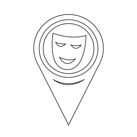 theatrical: Map Pointer Theatrical Masks Icon