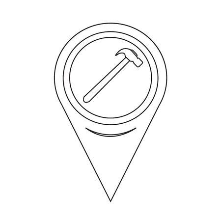 leverage: Mapa Puntero Hammer Icono