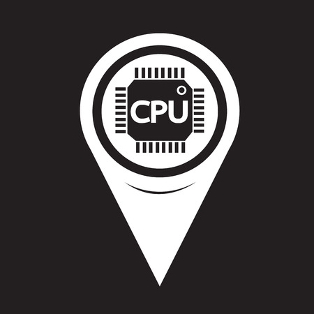 semiconductor: Map Pointer CPU icon