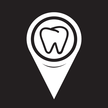 mouth pain: Map Pointer Tooth Icon