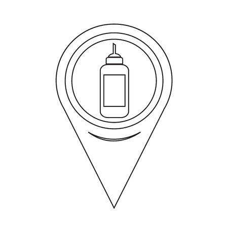 ketchup: Map Pointer Ketchup Icon