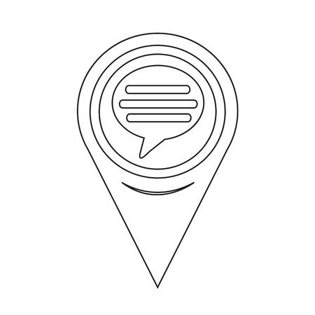 komentář: Mapa Pointer Komentář Icon Ilustrace