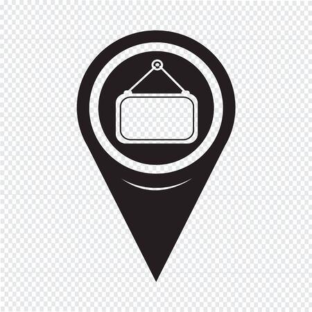 blank label: Map Pointer Blank Label Icon