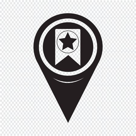 best location: Map Pointer Web Bookmark Ribbon Icon