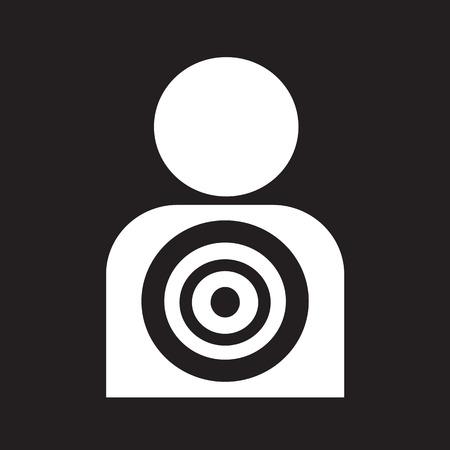 ziel icon: Zielsymbol Hintergrund Illustration