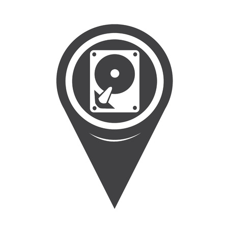 harddrive: Map Pointer Hard Disc Icon