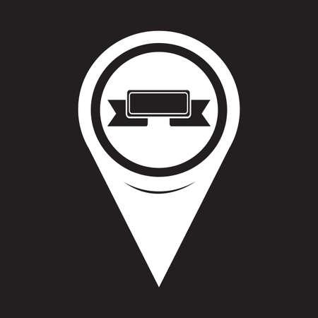 ribbon: Map Pointer Ribbon Icon