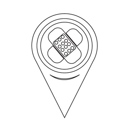 tape marker: Map Pointer Plaster Icon