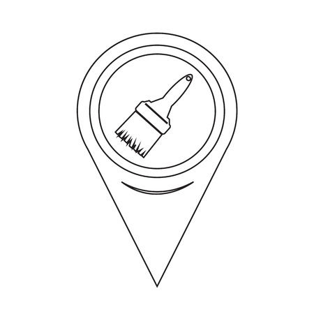 paintroller: Map Pointer Paintbrush Icon