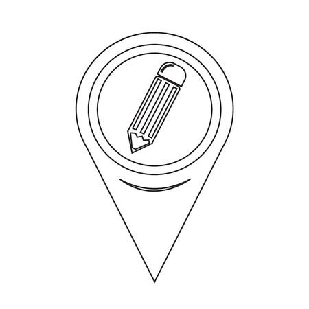 map pencil: Map Pointer Pencil Icon