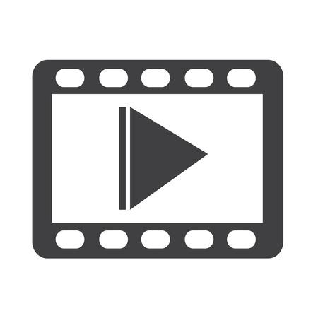 Icono De Vídeo Ilustraciones Vectoriales, Clip Art Vectorizado Libre De  Derechos. Image 41886254.