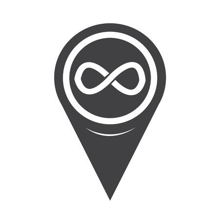 Map Pointer infinity symbol icon Illusztráció