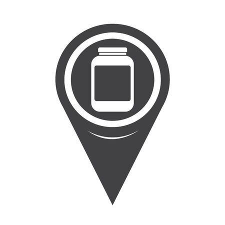 a substance vial: Map Pointer Jar Icon