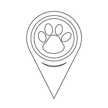 trot: Map Pointer Paw Print Icon