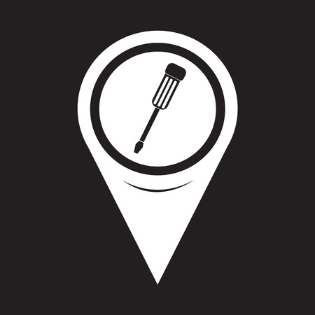 map toolkit: Map Pointer Screwdriver Icon