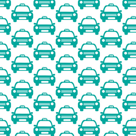 car pattern: Taxi Car Pattern Background