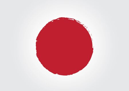 nippon: Japan Flag Illustration