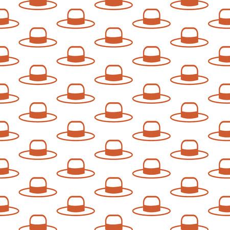 pent: Hat pattern background Illustration