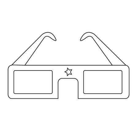 stereoscope: 3D cinema glasses Illustration