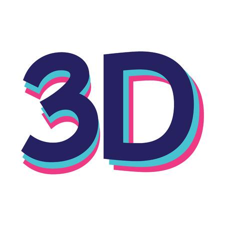3 d glasses: 3d icon Illustration