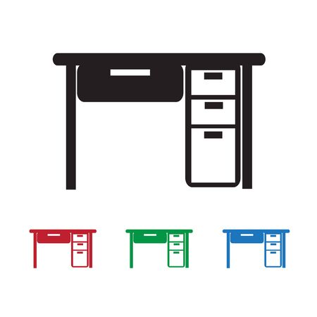 tabletop: Table Office Icon Illustration