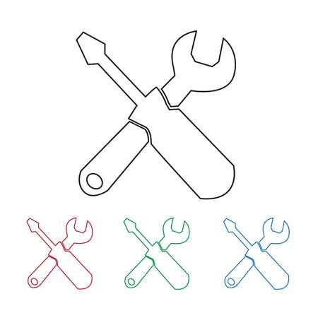 Tools icon Illustration